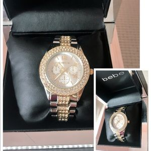 💝BeBe Authentic Rhinestones Watch NEW
